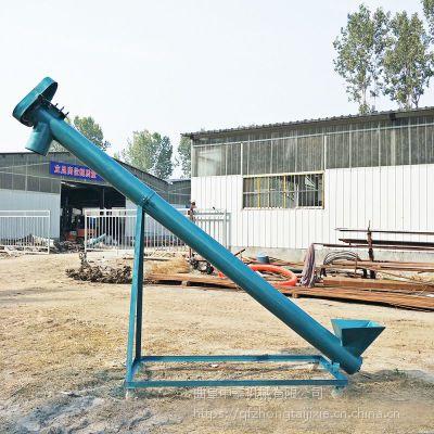 养殖场饲料装车用上料机 工地砂石上楼用提升机 中泰机械
