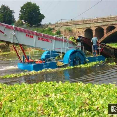 四川小型全自动水葫芦打捞船|泉州水面垃圾打捞船|南充水面树枝清理机械设备保洁船