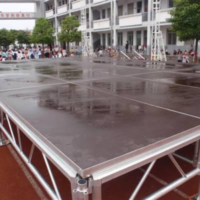 钢铁铝合金雷亚舞台架 活动拼装升降演出舞台 可移动防滑婚庆t台