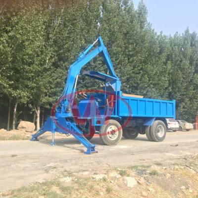 自卸式随车挖拉沙用 水田农用