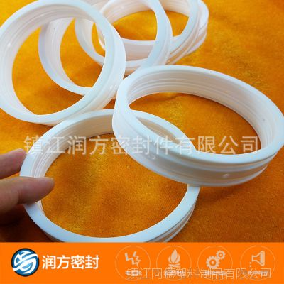 专业生产加工定做 塑料王PTFE异形密封环  规格尺寸承接加工定制