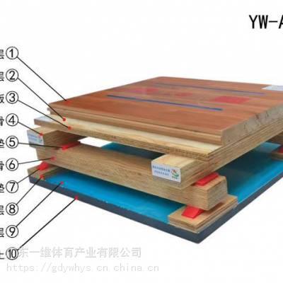 二级枫桦木双龙骨运动木地板篮球馆羽毛球馆乒乓球馆木地板环保材质