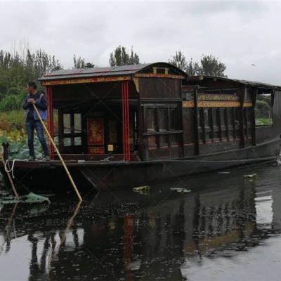 广西贵港木船厂家定制10米南湖红船