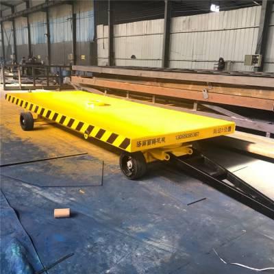 牵引式货物搬运平板拖车 厂区货物周转实心平板车 四轮牵引拖板车
