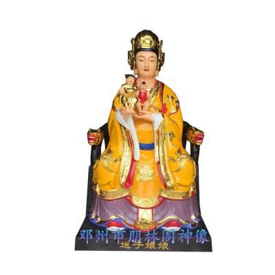 寺庙佛像雕塑厂家 观音老母 金身老母 无极老母 十二老母树脂神像直销