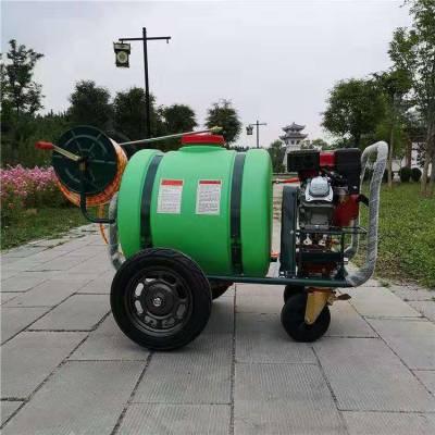 汽油高压远程打药机价格参数 远射程推车式喷雾机 小区园林高树喷雾机