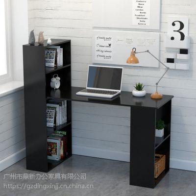 现代简约时尚电脑桌写字台带书架存储单元组合 可定制工厂直销