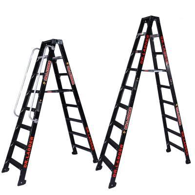 工程玻璃纤维绝缘梯子家用折叠A字梯电工平台梯室内外登高楼梯子