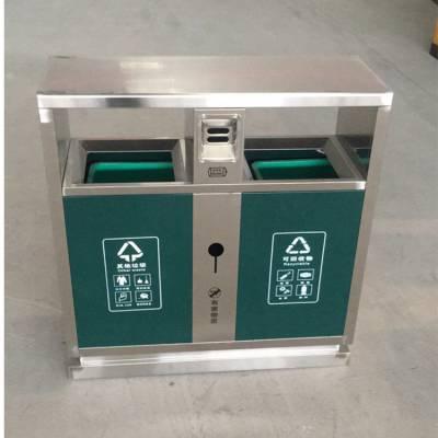 郑州大学户外不锈钢垃圾桶、河南四分类垃圾桶厂家、批发定制环卫分类果皮箱厂家
