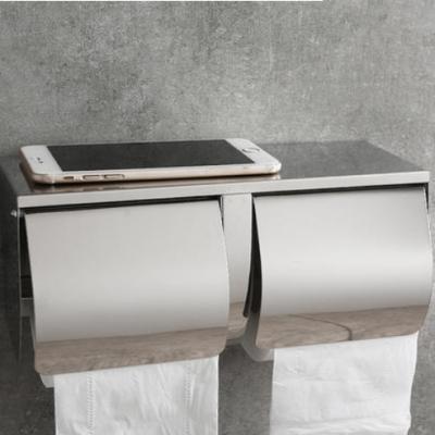 能并排放两卷纸的防水纸巾架 不锈钢卫生间手纸盒佳悦鑫厕所卷纸箱厕纸器厂家直销