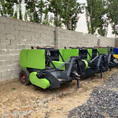 自制新款多用途麦草稻草粉碎打捆机 玉米秸秆收割回收打捆机 青贮秸秆打包机