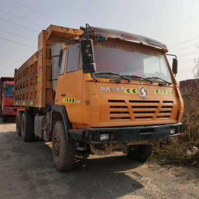 山西忻州鸿运二手车信息部供应大量陕汽奥龙工程自卸车,340马力,5.6米大箱,奔驰后桥