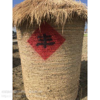 成都大型稻草雕塑造型定制厂家 定制各种稻草造型 农耕文化主题