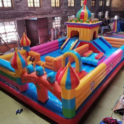 兒童游樂園充氣淘氣堡游樂設備廣場景區商場充氣高攀巖彈跳床