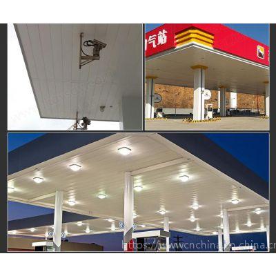 防风铝条扣--加油站白色防风铝条扣板生产厂家