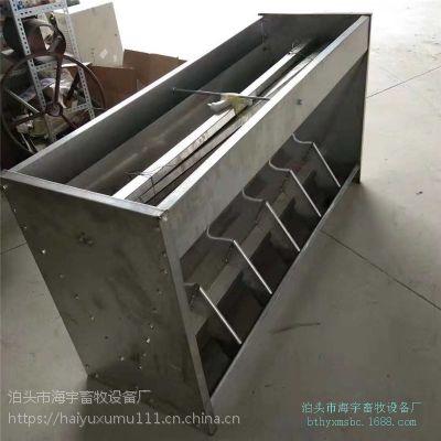 专业制定养猪设备 不锈钢食槽耐腐蚀 保育一体食槽