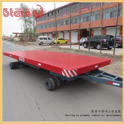 热销产品平板拖车牵引重型 湖北客户订购烤漆工件运输牵引拖车
