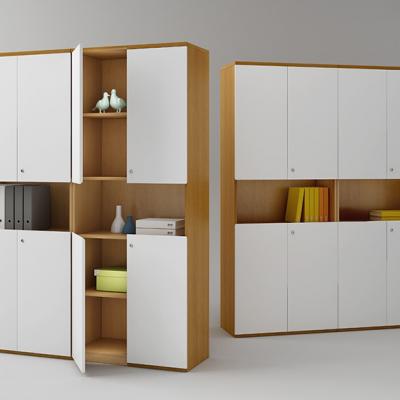 河北一赫定制文件格子组合柜资料档案柜 带锁木质书柜 办公室隔断书架 置物柜