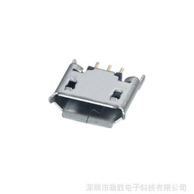 供应MicroUSB母座连接器 多种沉板高度可选 可免费拿样