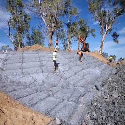 施工 铅丝低碳钢丝格宾网 石笼墙