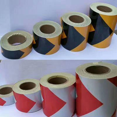 黑黄反光膜价格 供应黑黄反光贴 红白反光膜厂家批发 质量保证