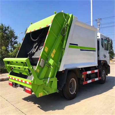 垃圾处理站使用的压缩勾臂垃圾车 垃圾处理厂后装垃圾车价格