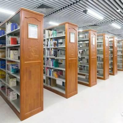 不锈钢图书架木制书架 热转印彩色书架 儿童环保书架阅览桌椅厂家定制
