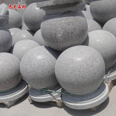 挡车石球直径60厘米重量,花岗岩车止石批发