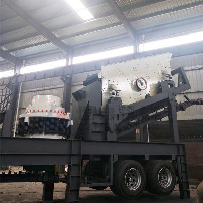 石料制砂机 移动式制砂生产线 欧版反击破碎机设备