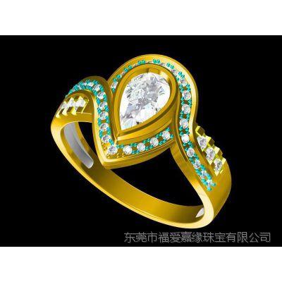 纯铜复古戒指设计 素描戒指 —粉晶饰品加工厂家