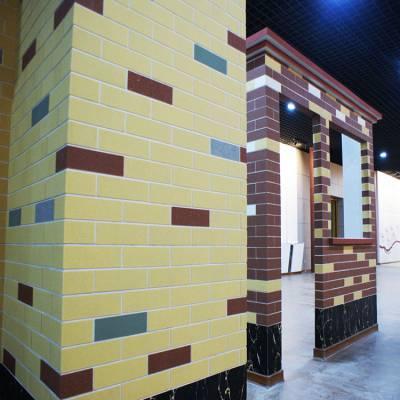 软石外墙砖厂家直销工厂小区学校外墙专用 软瓷外墙砖 免费提供样品 施工安全不脱落