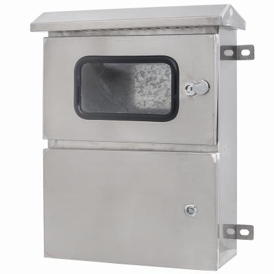304不锈钢配电箱室外防雨水控制箱强电监控箱动力柜基业箱户外明装设备箱电控箱光伏并网箱双门按钮箱工厂