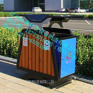 河北环美环卫公司厂家直销木条果皮箱17
