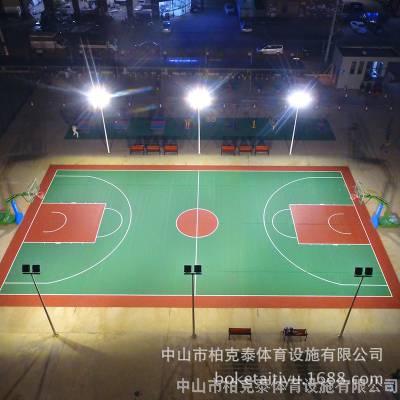 篮球场6米镀锌灯杆安装 中山球场照明灯杆送货安装 路灯杆价格