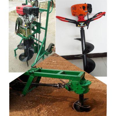 汽油手推式打洞挖坑机 家用树木种植打坑机 单人操作挖坑机