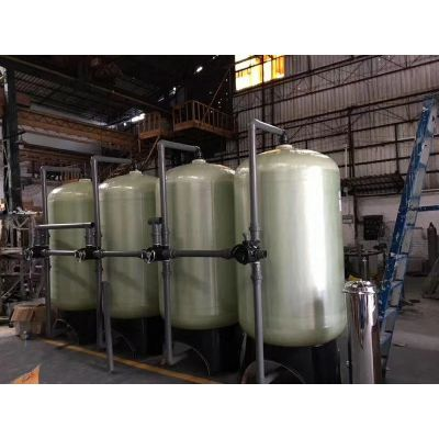 玻璃钢水处理专用罐 石英砂活性炭多介质过滤器价格 江苏现货批发