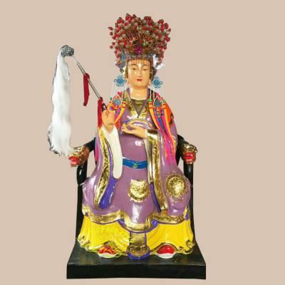 贴金碧霞元君神像 树脂西天老母雕像 送子娘娘塑像 三霄娘娘道教神像厂家订制