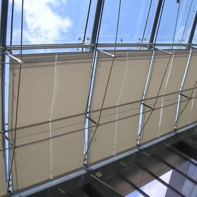电动FTS天棚帘 顶面遮阳帘 阳光房遮阳 商场医院遮阳棚 室内遮阳棚