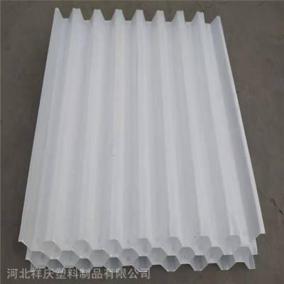 六角蜂窝斜管填料厂家白色PP材质 河北祥庆