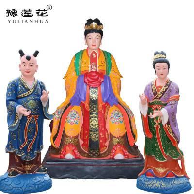 三霄娘娘神像坐像三仙姑佛像图片大全河南豫莲花雕塑厂