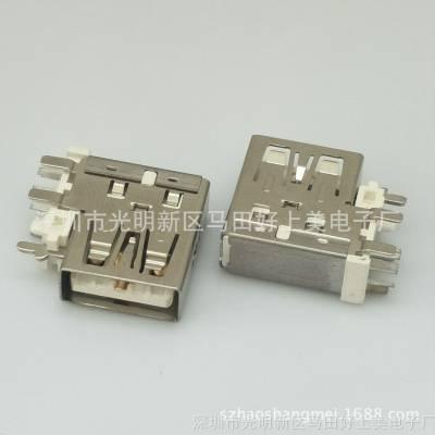 大电流/侧插AF 5P VIVO闪充母座 华为快充 侧立式加高 输出4A/5V