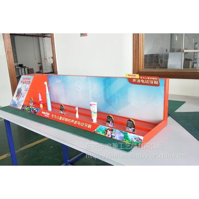 东莞声波电动牙刷展架制造工厂亚克力板展示台电子产品陈列展示