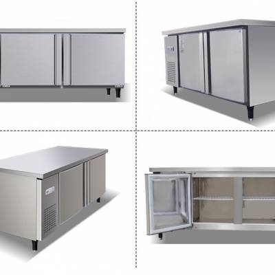 卧式冷藏工作台 商用耐用冰柜操作台 冷冻保鲜厨房操作台定制 多功能食堂冷冻柜