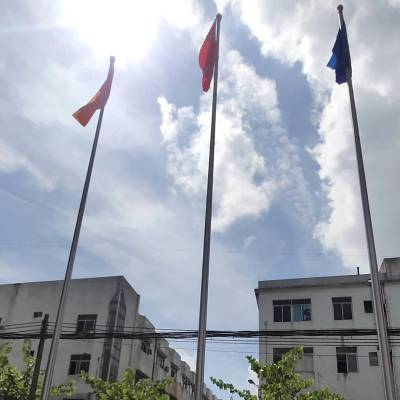 泰州耀荣 学校不锈钢旗杆制造厂家销售
