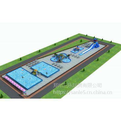 山东专业订做支架水池价格小型规格的连接水滑梯