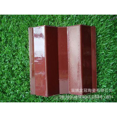 厂家批发:150*150mm陶瓷三曲瓦、波形瓦,角瓦、琉璃瓦屋面彩瓦