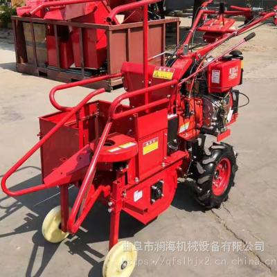自动扒皮单行苞米收割机 柴油掰棒子机 山区农用电启动玉米收获机