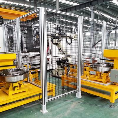 机器人展示移动式安全围栏展会用防护栏