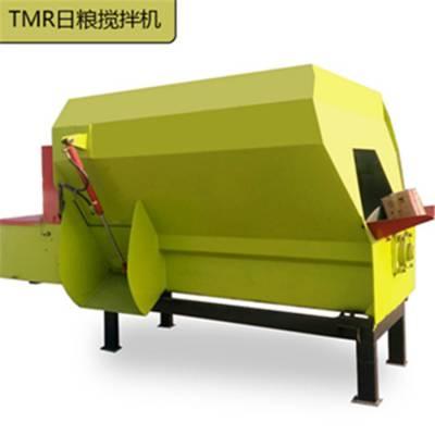 供应TMR饲料搅拌机 牛场全日粮混合搅拌机 卧式TMR搅拌机