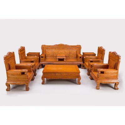 世界木雕看东阳_东阳倩如红木家具_红木沙发套件